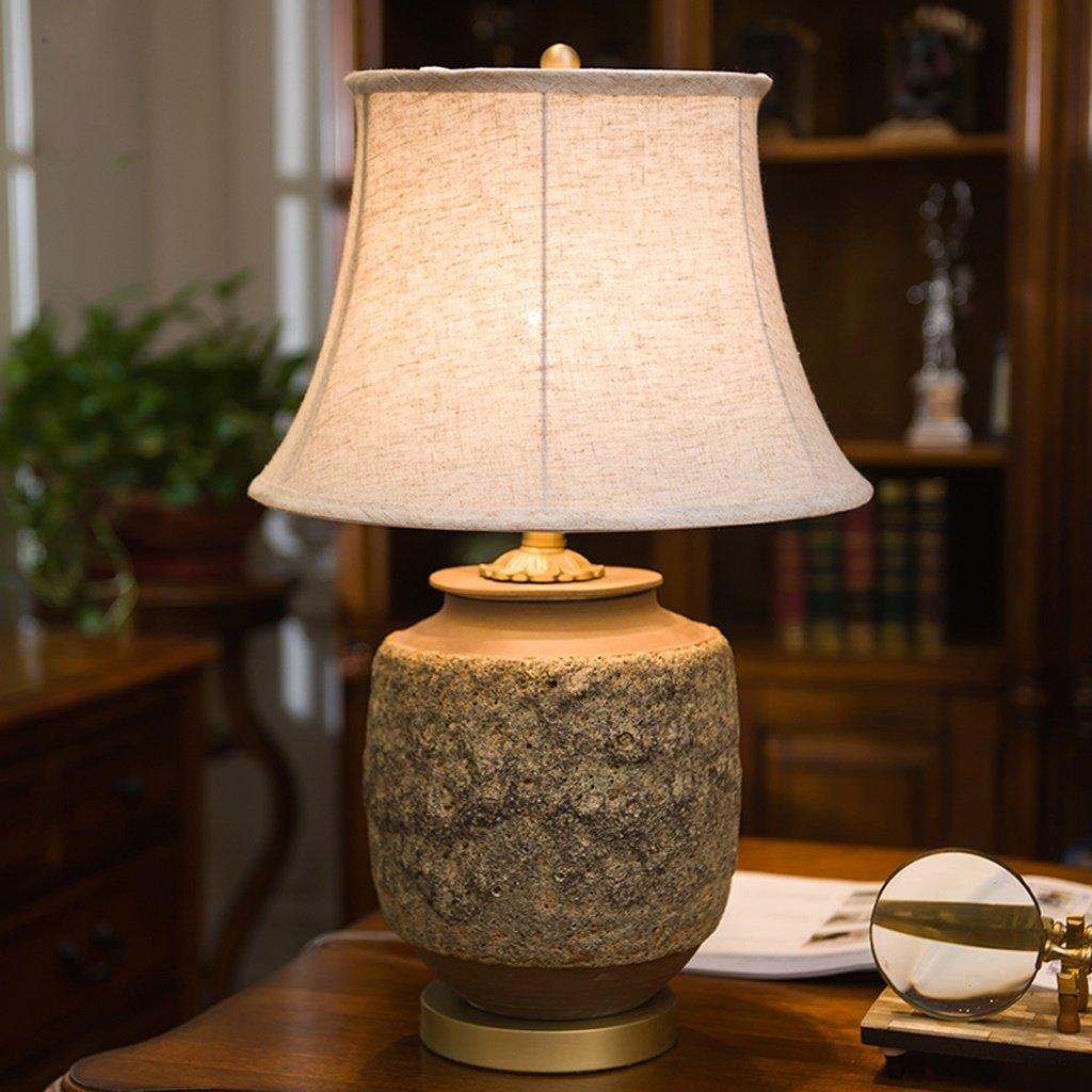 European-style Petrochemische Kreative Longyan Glasur Keramik Mit Kupfer Schlafzimmer Einfache Nachttischlampe (Größe; 62  38CM) B06ZZB1V9R | Starker Wert