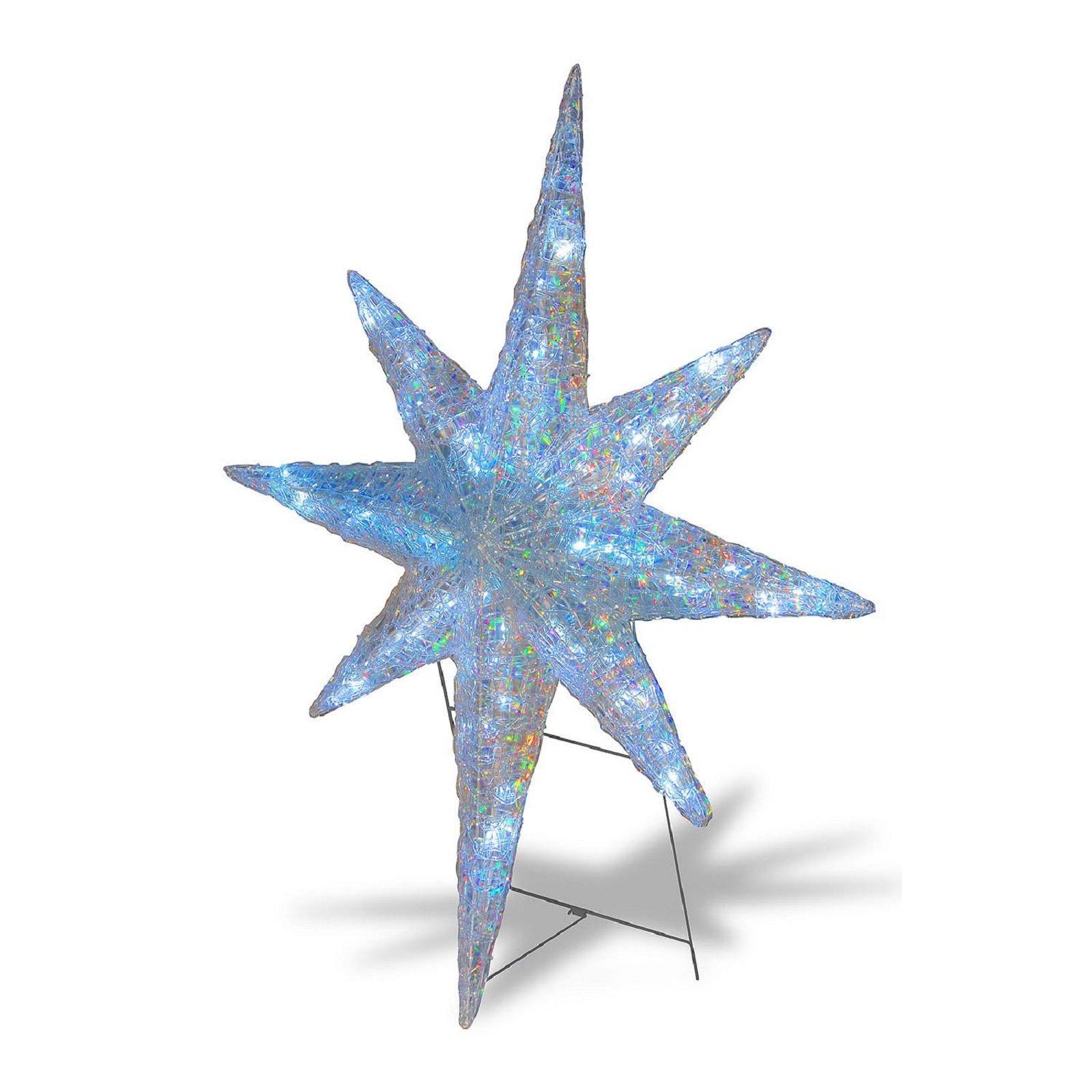 42'' Sparkling Star Of Bethlehem Ice Crystal Star Pre Lit LED Lights