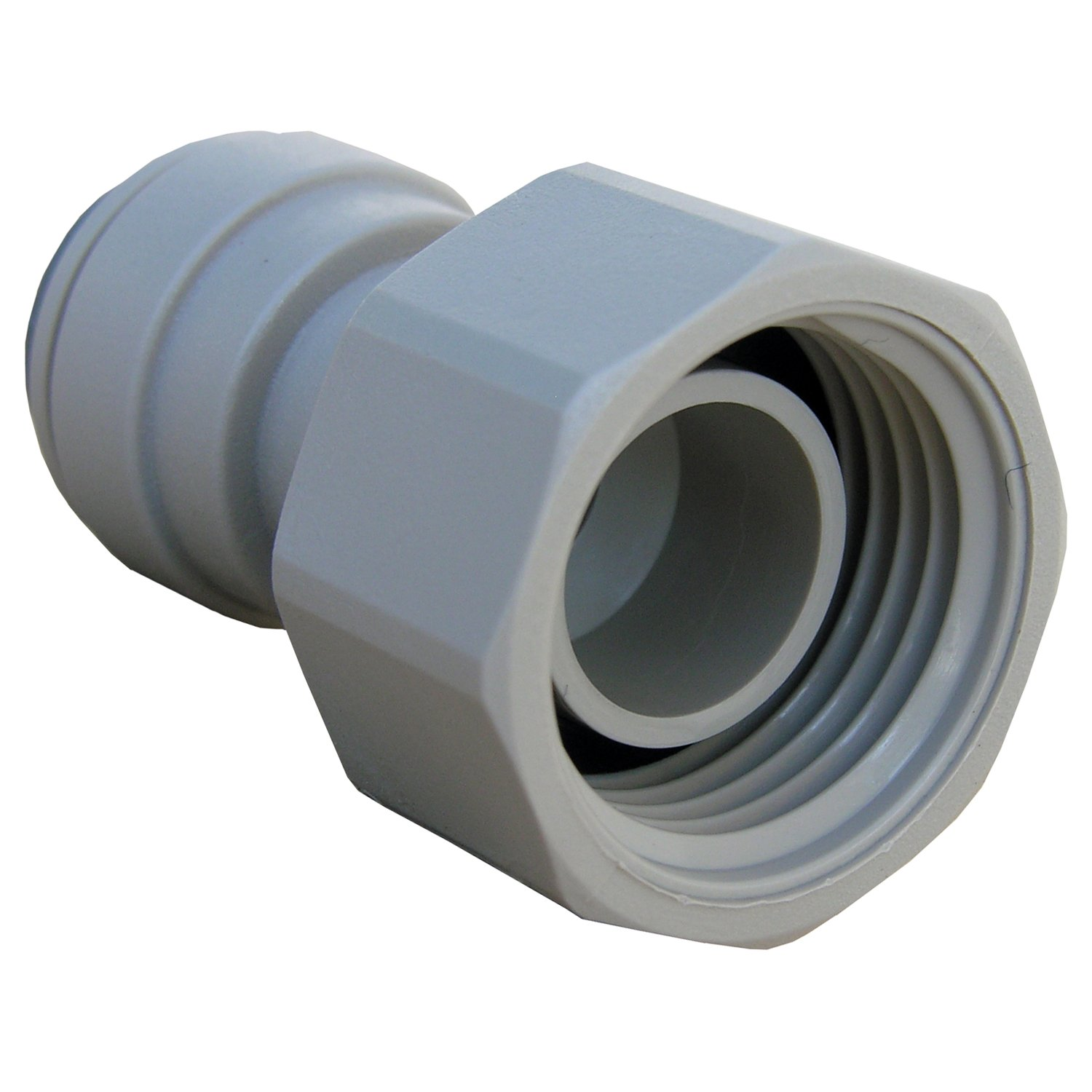 LASCO 19-6193 Female Pipe Thread Adapter Push-In Fitting with 3//8-Inch OD Tube and 1//2-Inch Plastic