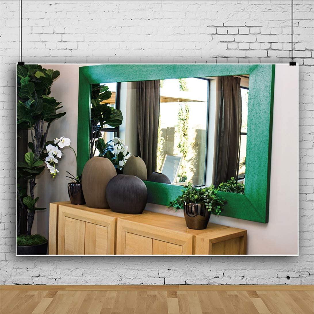 Yeele 10x7ft Vintage Room Interior Backdrop Old Bowls Mirror on Cabinet Photography Background Home and House Design Kid Adult Artistic Portrait Photo Shoot Props Vinyl Wallpaper