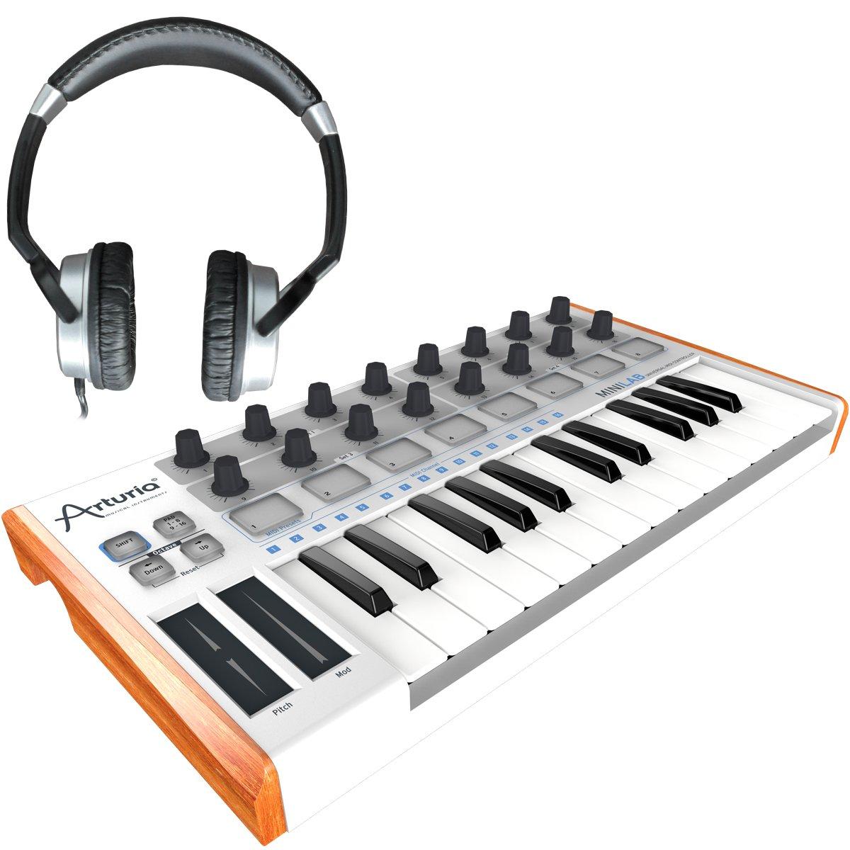 Arturia Mini Lab Incluye Numark HF de 125 V2 | USB de - Controlador MIDI Keyboard, auriculares: Amazon.es: Instrumentos musicales