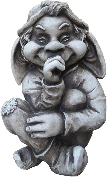 Jardín Figura TROLL Enano piedra figuras Jardín Figura más gnomo ...