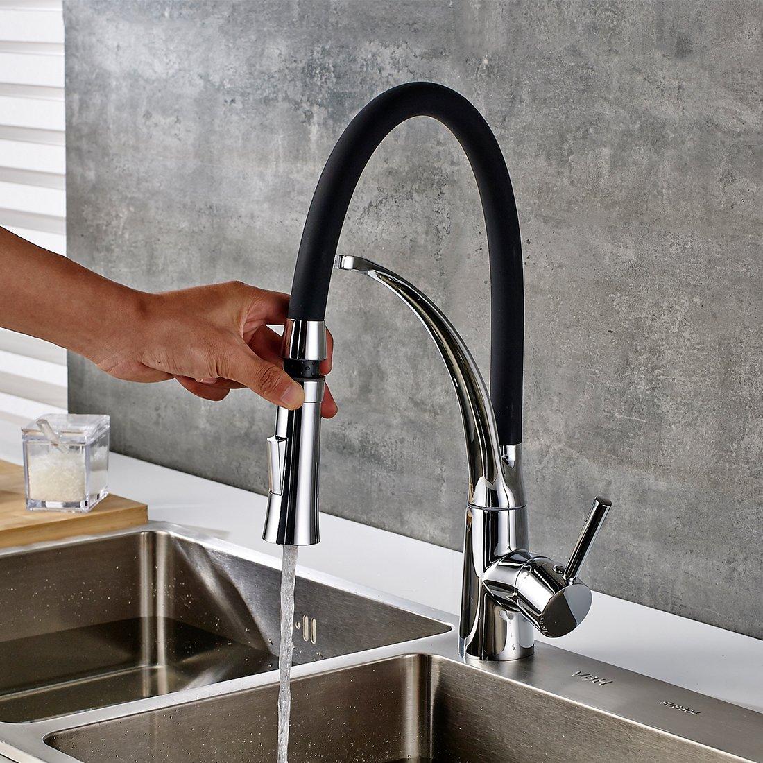 Fapully Küchenarmatur Wasserhahn Küche Mischbatterie Armatur ...