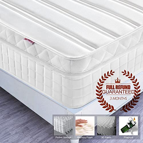 Silentnight Memory 1000 Mattress Review: Silentnight Pocket Essentials 1000 Pocket Spring Mattress