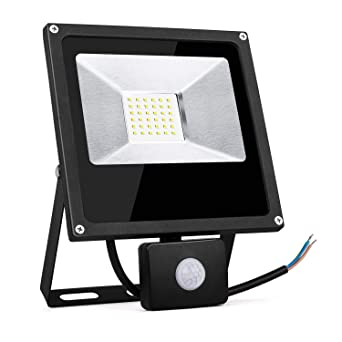 TOPLANET Focos Led 30W Exterior con Sensor Movimiento Foco Proyector LED IP66 Impermeable LED Seguridad Floodlight