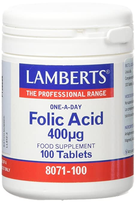 Lamberts Acido Fólico 400ug - 100 Tabletas