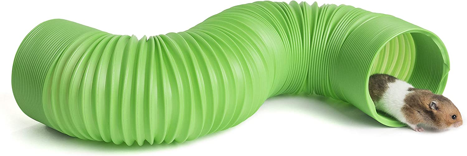 Niteangel Small Pet Fun Tunnel, 39 x 4 inches - Fit Adult Ferrets and Rats (Green)