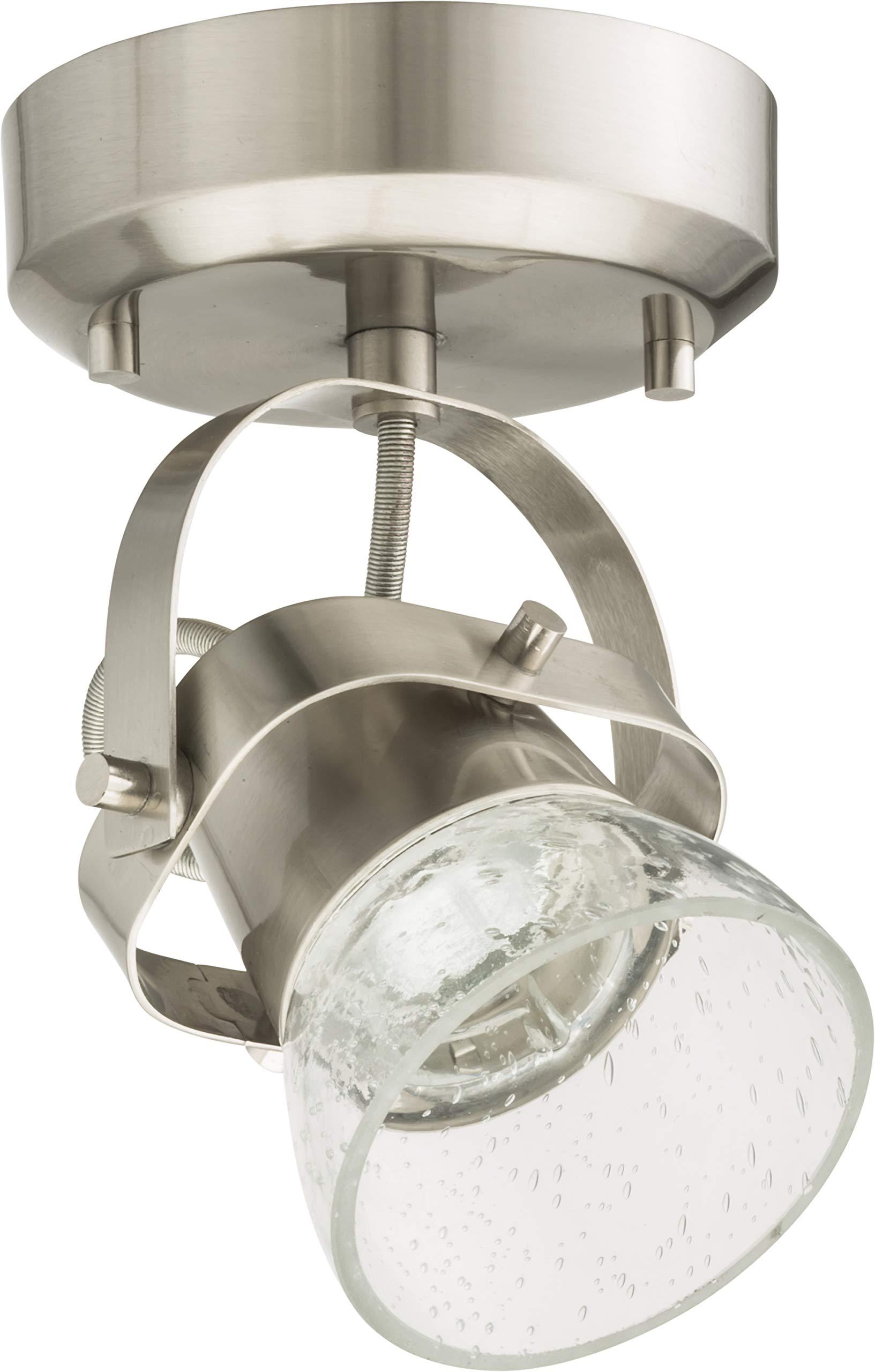 Lithonia Lighting LTFSGLS 27K 90CRI BN M4 1-Light LED Linear Seeded Glass Fixed Track Kit, 2700K, Brushed Nickel