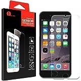 1byone Ultra-Clear de alta definición (HD) Protector de pantalla de cristal para iPhone 6 / 6s / 7 con 9H dureza y fácil instalación
