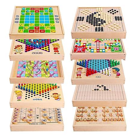 Juegos de Mesa para niños Backgammon Multiuso Puzzle Infantil de ...