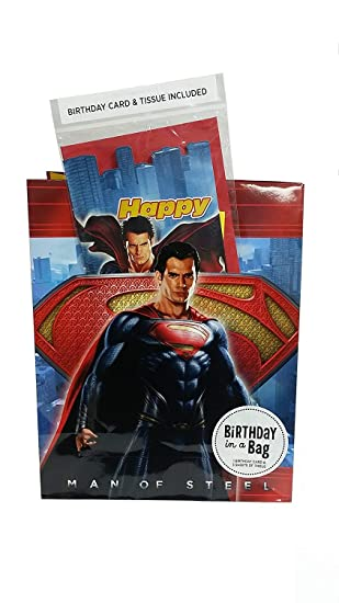 Amazon.com: Superman bolsa de regalo con tarjeta de ...