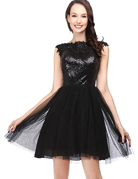 662bfc17c Belle House Black Tulle Homecoming Dresses 2018 for Juniors Short Prom  Party Dress A Line Ball Gown at Amazon Women's Clothing store: