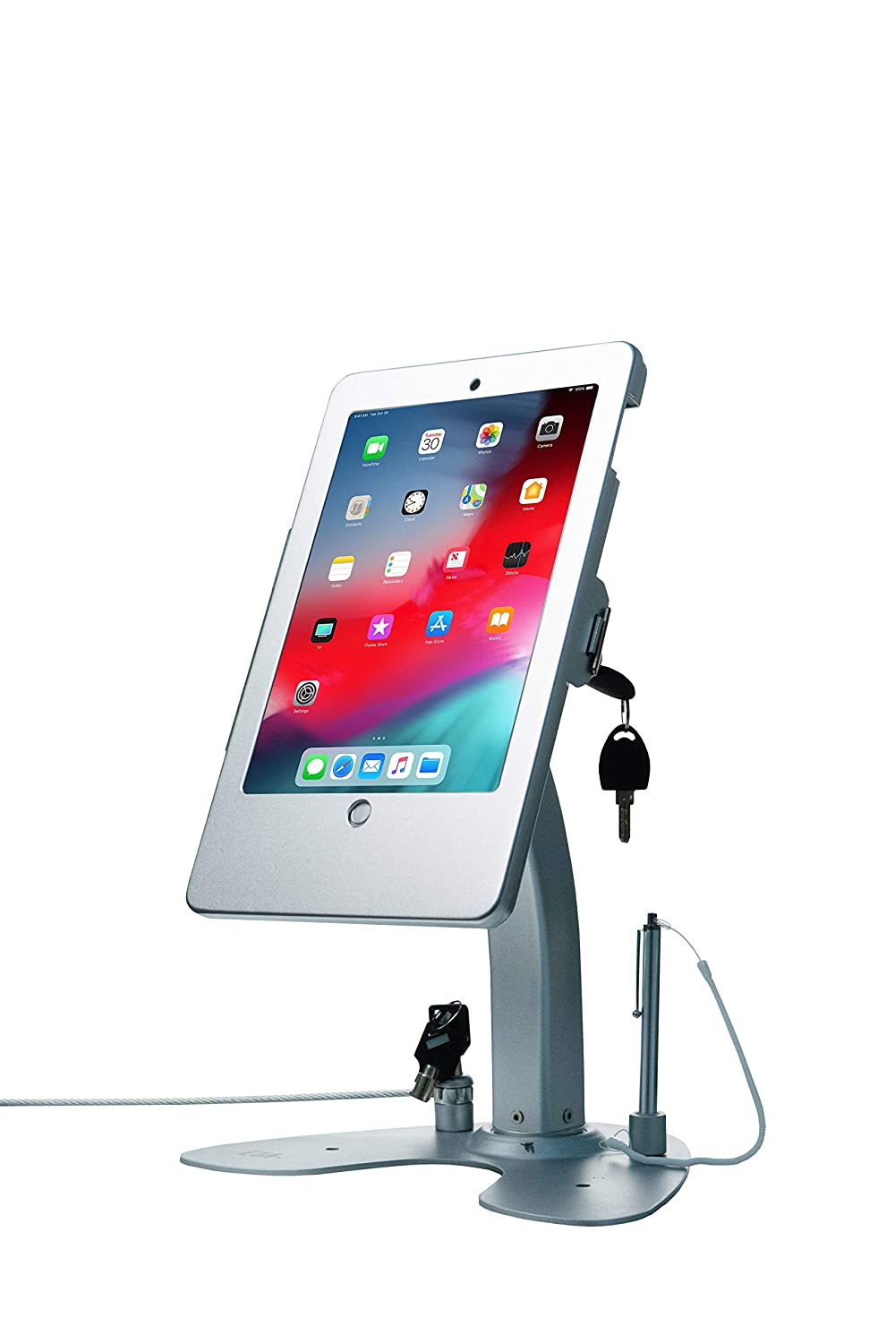 CTA Digital PAD-Ask Dual Security Kiosk Stand with Locking Case and Cable for iPad Gen. 5 (2017), iPad Gen. 6 (2018), iPad Air, and iPad Pro 9.7