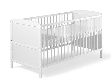 Kinderbett weiß 70x140  Schardt 040761902 Kombi-Kinderbett Conny 70 x 140 cm, weiß ...