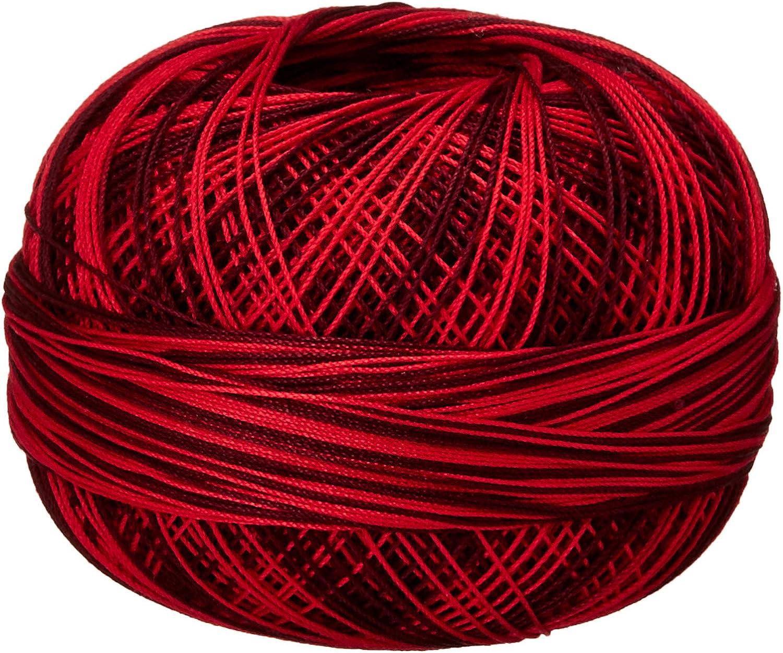 Handy Hands Lizbeth Premium Cotton Thread Size 40 Red Burst