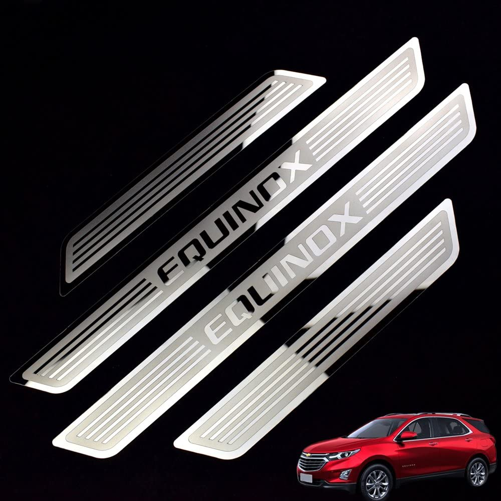 For Chevrolet Equinox 2018 2019 Stainless steel Rear Bumper Protector Cover Trim
