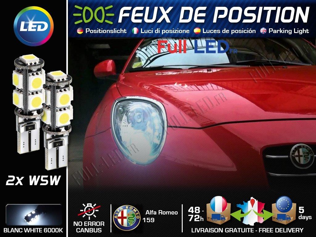 Ampoules Feux de position LED - Alfa Romeo 159- W5W blanc Xé non MyAutoLight