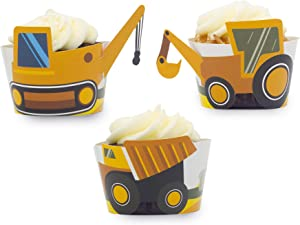 Construction Birthday Party Cupcake Wrappers- Set of 24