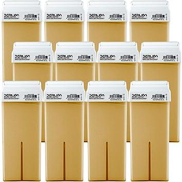 12 x Cera depilatoria Roll On cartuchos de 100ml Miel - Alta calidad - Pack 12 x Roll-on Cera para depilación: Amazon.es: Salud y cuidado personal