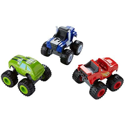 Fisher-Price Nickelodeon Blaze & the Monster Machines, Die-cast 3-Pack [ Exclusive]: Toys & Games