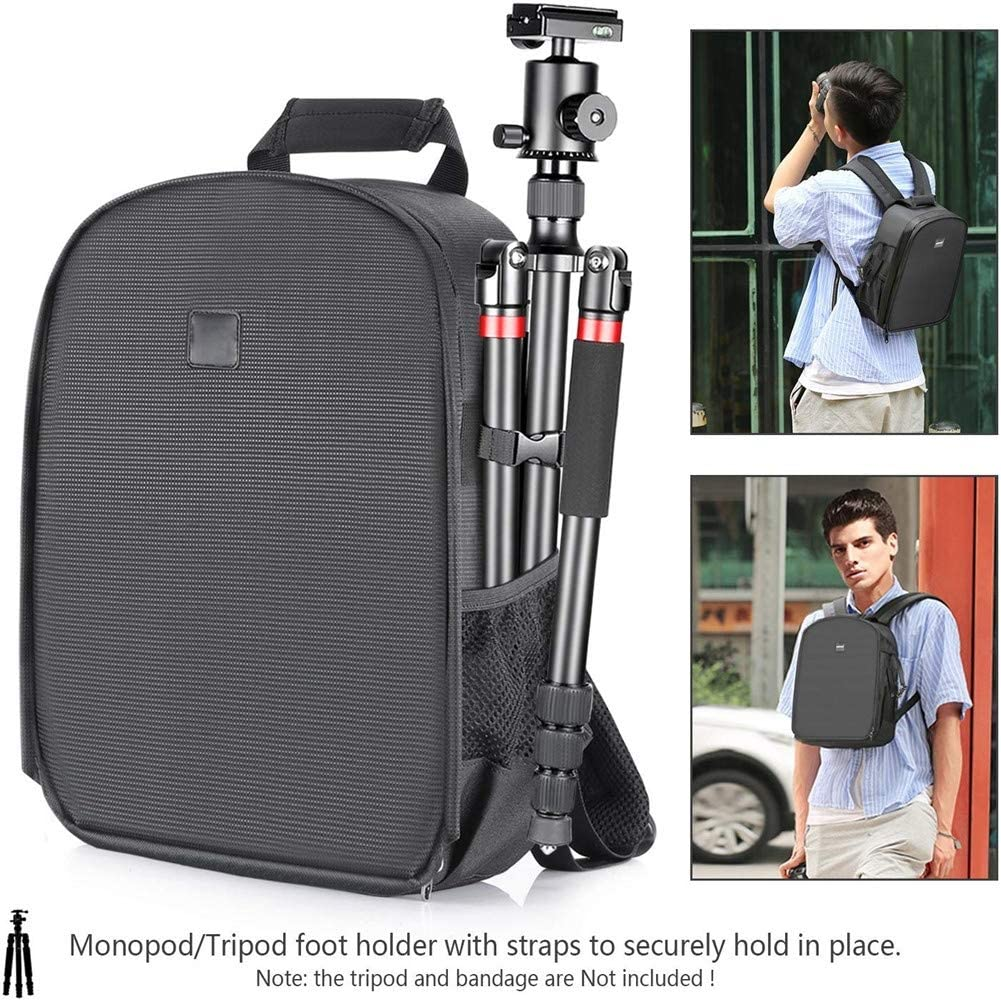 Flexible Partition Bag Shock Insert Protection for SLR DSLR Mirrorless Cameras and Lenses Radio Releases and Other Accessories Large Capacity Camera Padded Backpack Flash Light