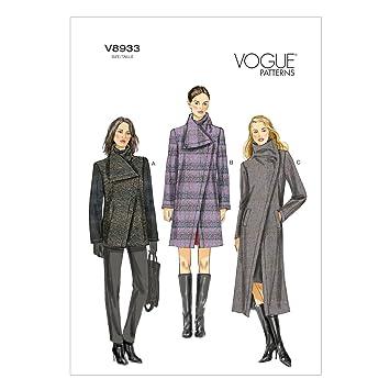 Vogue V8933 VGE B5 (8-10-12-14-16) Schnittmuster zum Nähen, Elegant ...