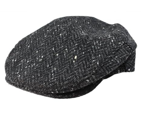 4cbb333c99c John Hanly Flat Irish Hat Men s 100% Wool Charcoal Fleck Made in Ireland  Small