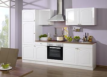 Held Möbel 690.6039 Küchenzeile 270 in Hochglanz-weiß / weiß ...
