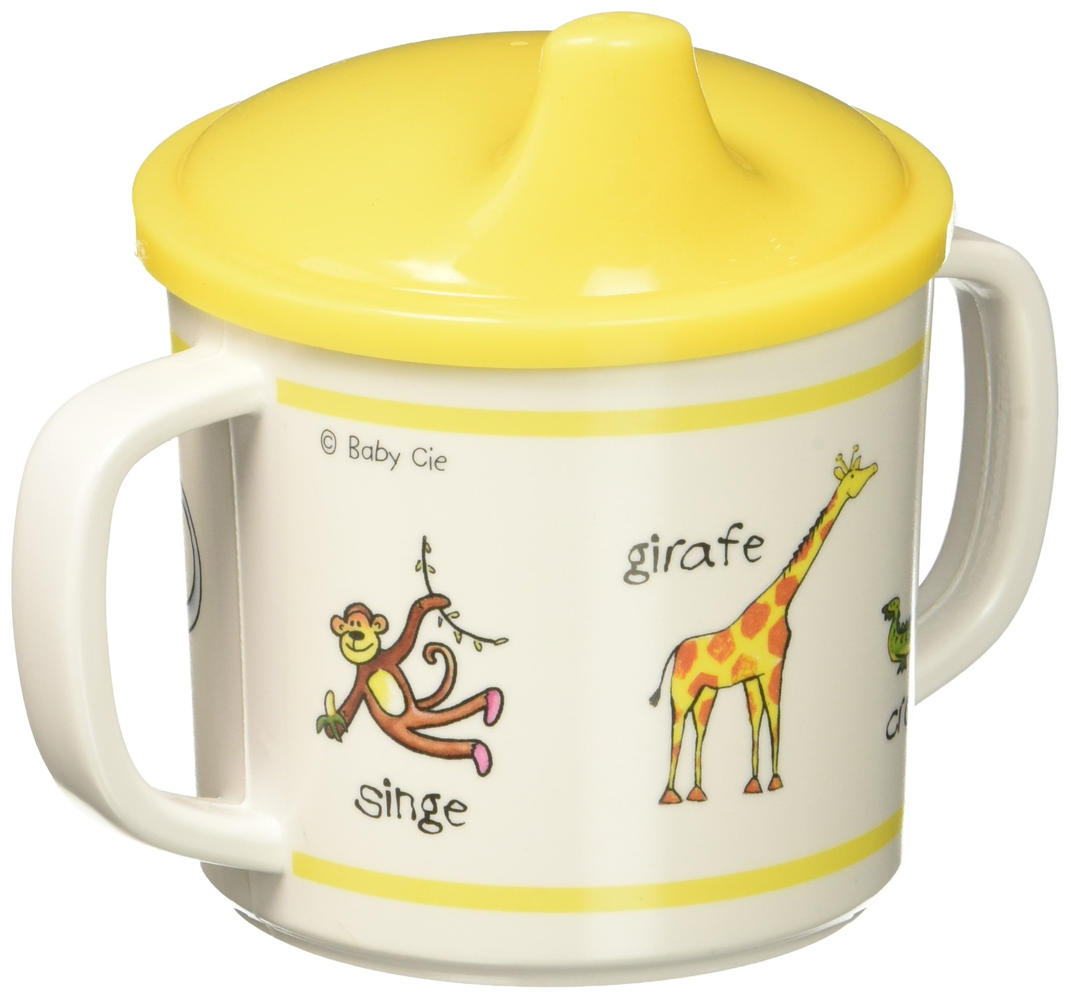 Baby Cie Jungle Animals-Yellow Sippy Cup, Multicolor