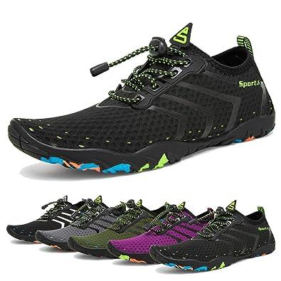 23acb1b142f4 Water Shoes Mens Womens Beach Swim Shoes Quick-Dry Aqua Socks Pool Shoes  for Surf