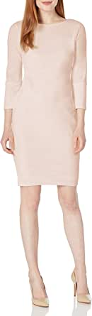 Calvin Klein Women's Solid Three Quarter Split Sleeved Sheath