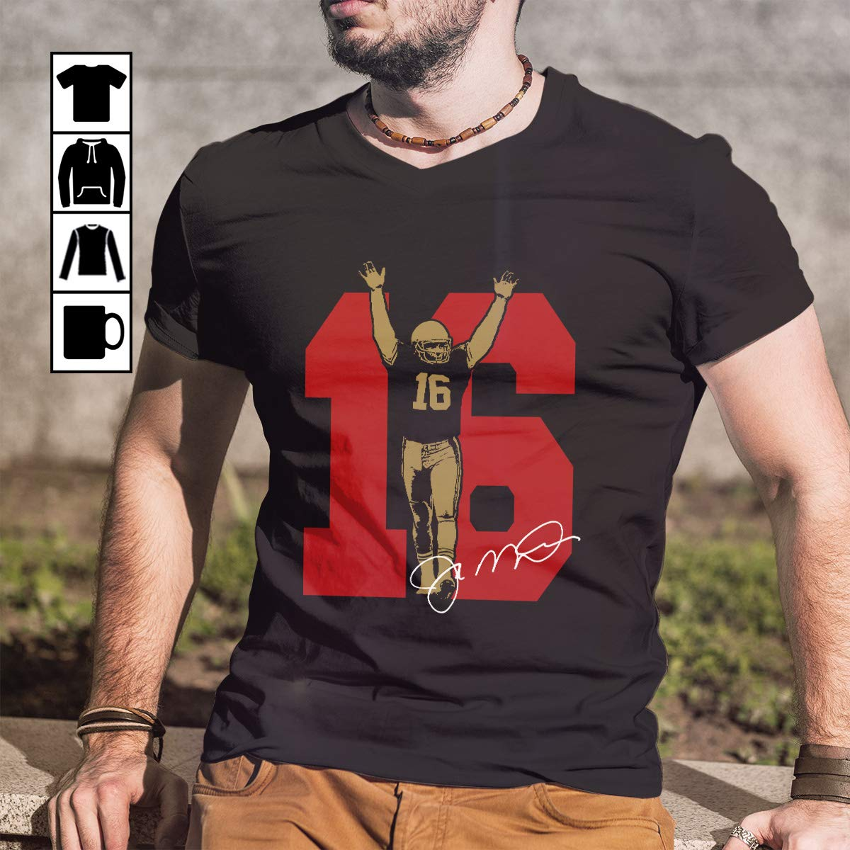 timeless design ad145 29ce4 Amazon.com: Joe Montana T Shirt Long Sleeve Sweatshirt ...