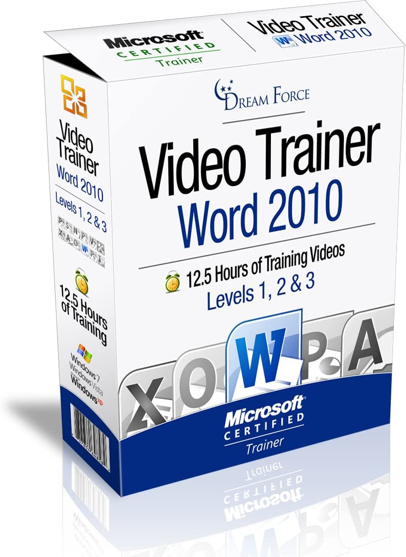 Word 2010 Training Videos – 12.5 Hours of Word 2010 training by Microsoft Office: Specialist, Expert and Master, and Microsoft Certified Trainer (MCT), Kirt Kershaw