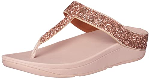d7892426e Image Unavailable. Image not available for. Colour  FitFlop Women s Fino  Quartz Toe-Thong Sandals ...