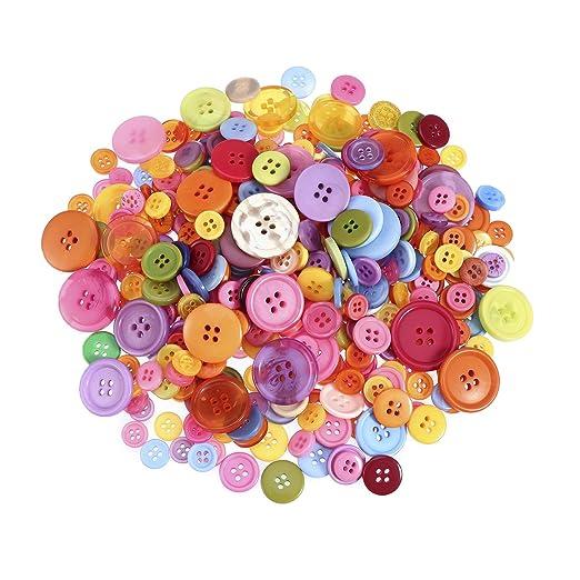 15 mm 4 Orificios Costura botones de artesanía de arte NUEVO Camisa
