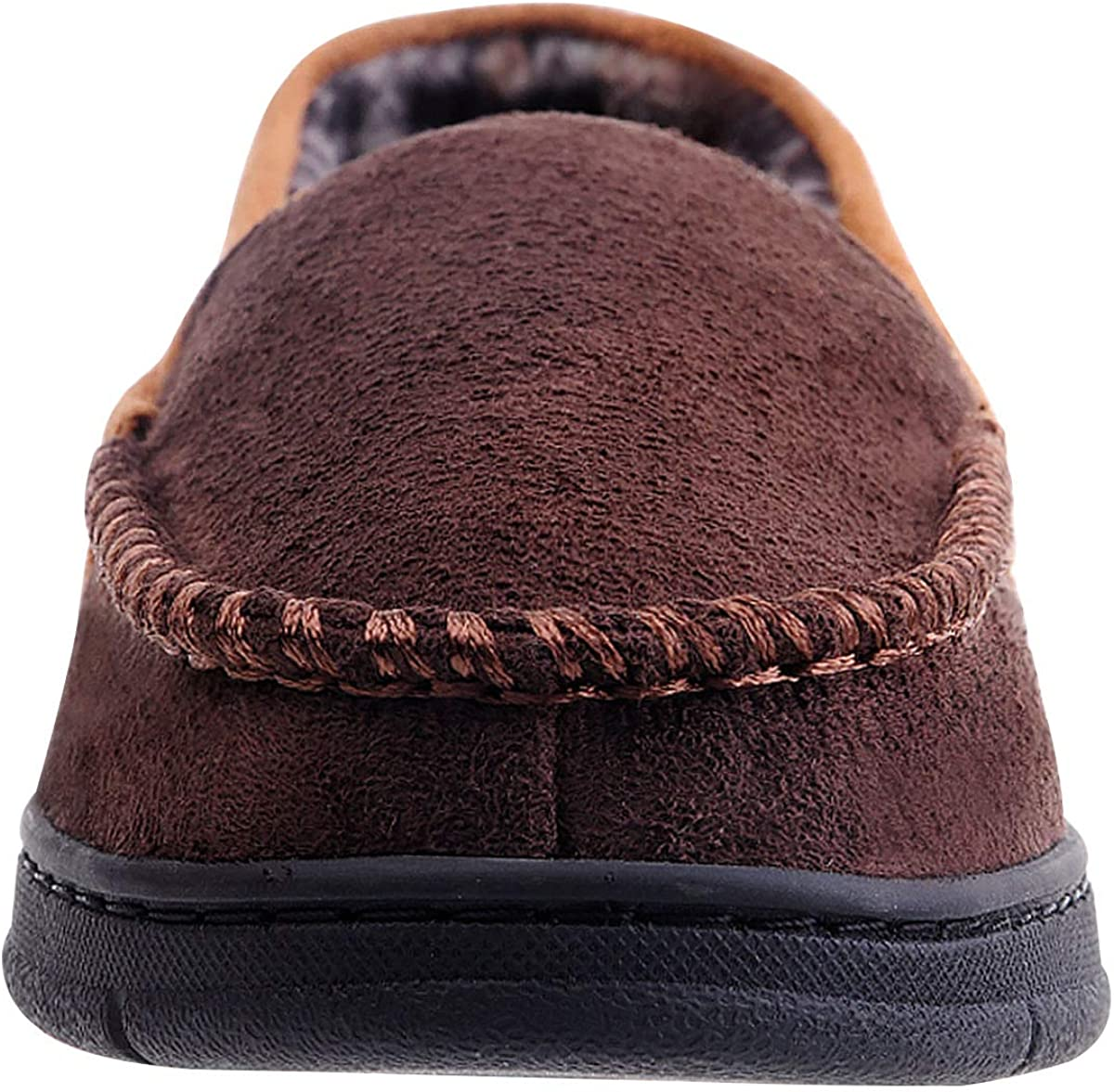 MIXIN Mens Moccasin Slippers Indoor Outdoor Loafer Shoes