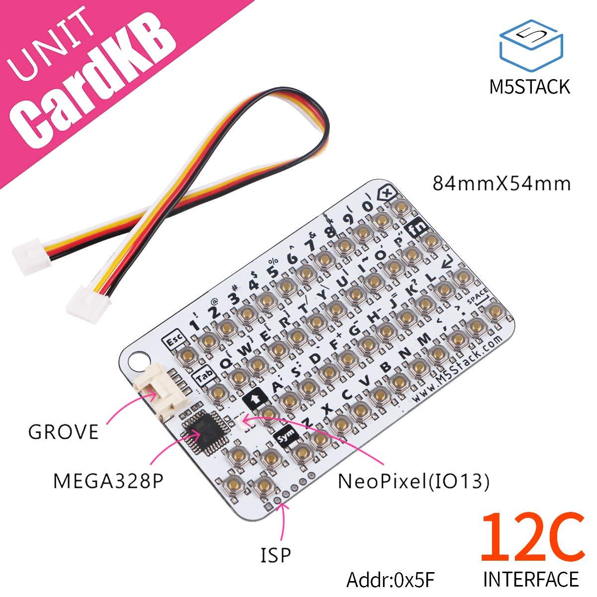 M5Stack Tarjeta Oficial KB Mini unidad de teclado MEGA328P Grove I2C USB ISP Programmer para ESP32 Arduino Development B