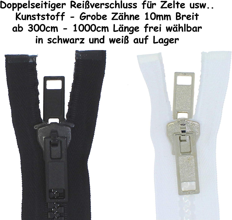 400cm zipworld Grande Denture en Plastique avec Fermeture /éclair Divisible 8 mm 322 Schwarz