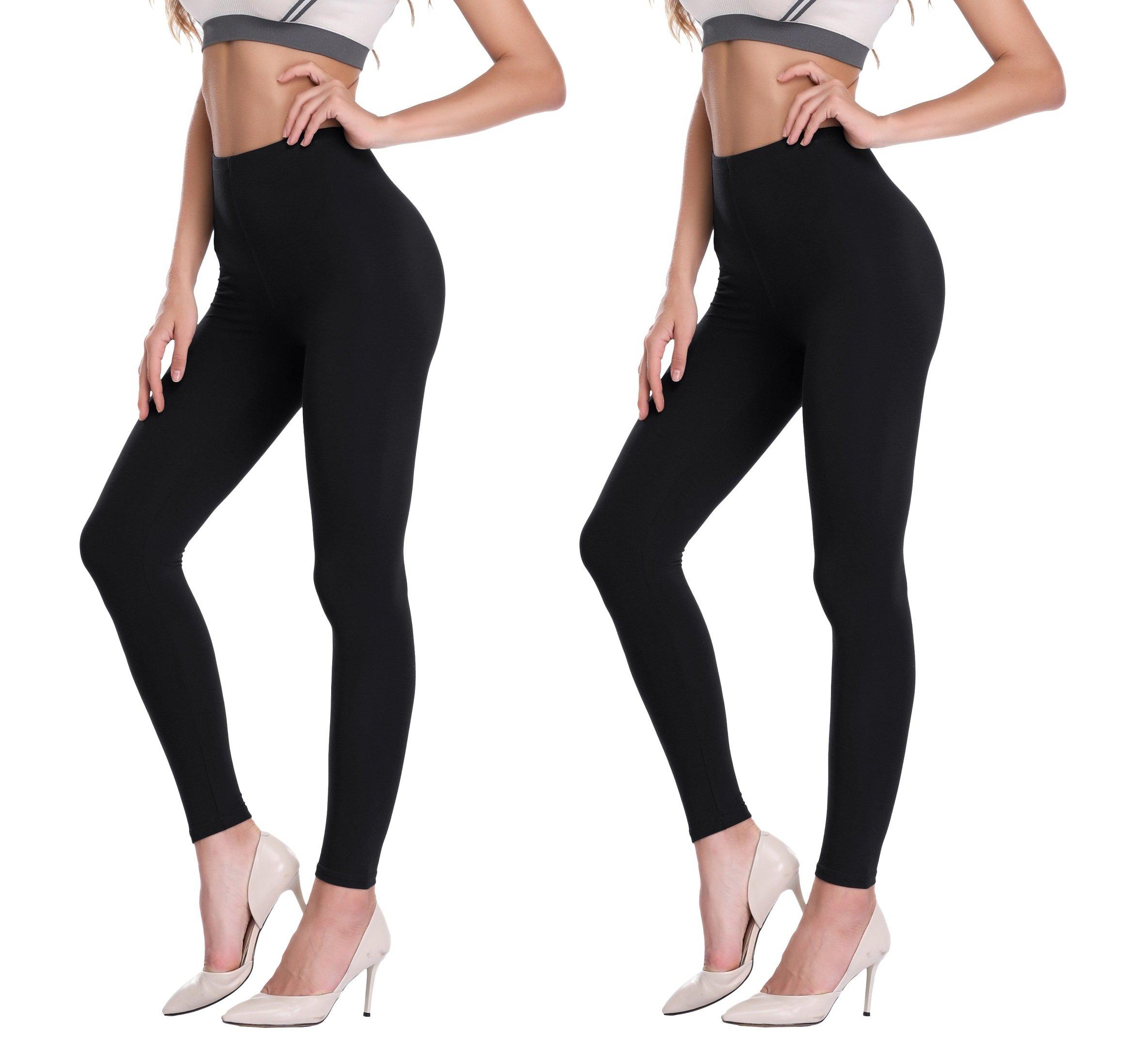 PENGEE Women's Extra Soft Ankle Length Leggings Modal Full Length Pants with High Waist