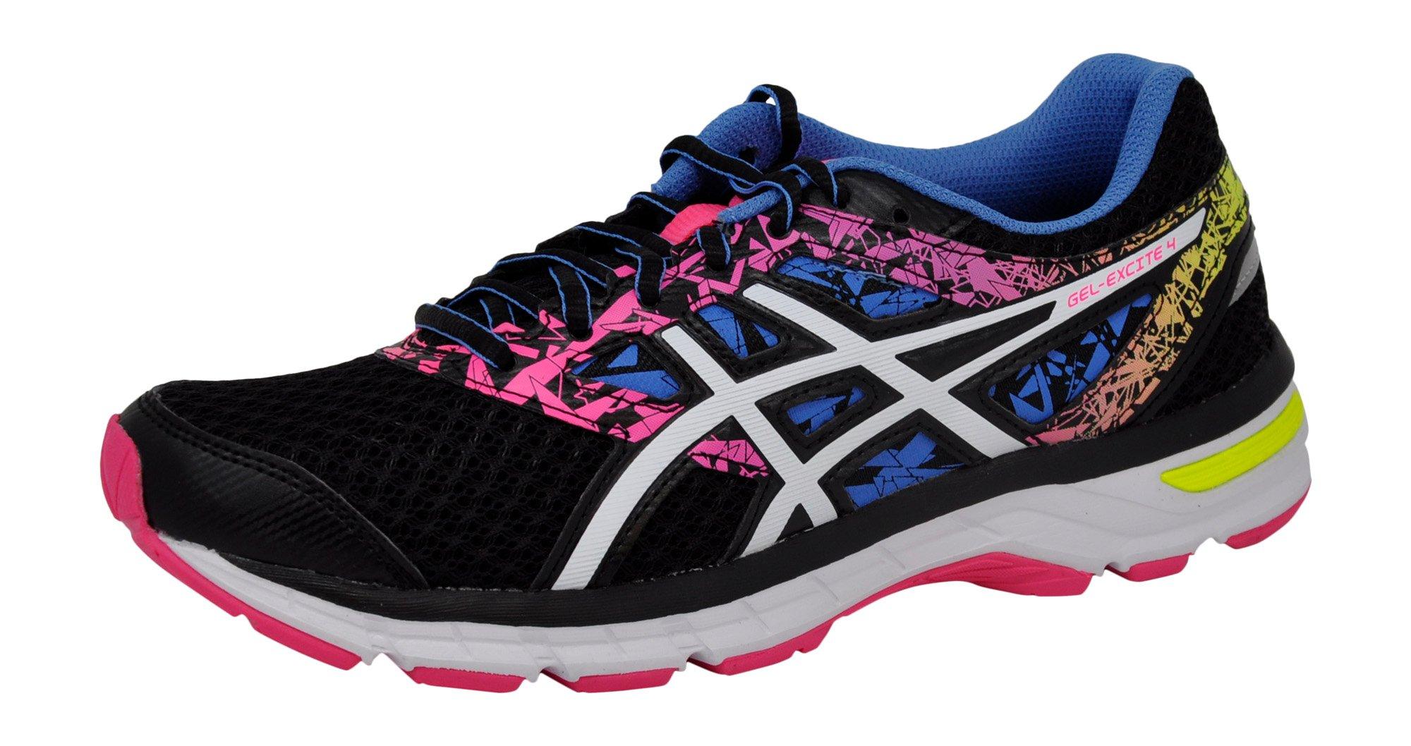 ASICS Women's Gel-Excite 4 Running Shoe (8.5 B(M) US, Black/White/Knockout Pink)