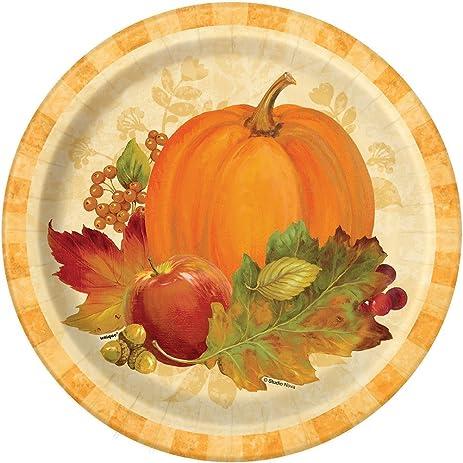 Pumpkin Harvest Fall Dinner Plates 8ct  sc 1 st  Amazon.com & Amazon.com: Pumpkin Harvest Fall Dinner Plates 8ct: Kitchen u0026 Dining