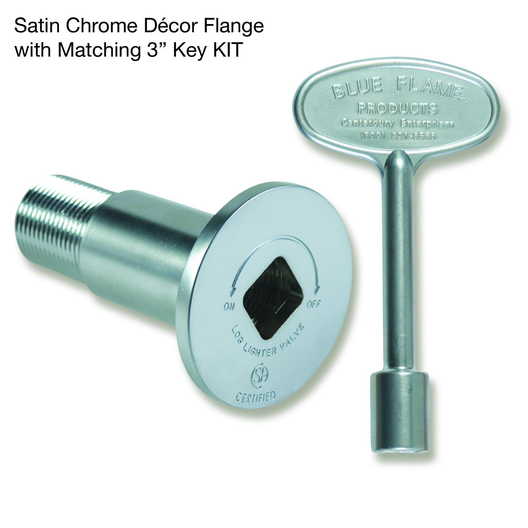 Blue Flame Flange And Key Kit 1/2 '' Chrome
