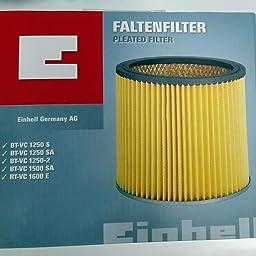 Einhell Duo - Inox - Filtro de larga duración para aspirador seco ...