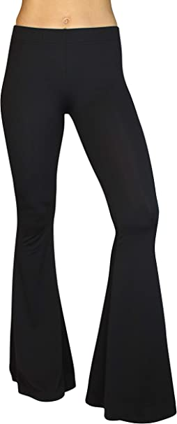 Daisy Del Sol Comfy Lightweight Stretch Vintage Palazzo 70s Bell Bottom Flare Lounge Yoga Pants