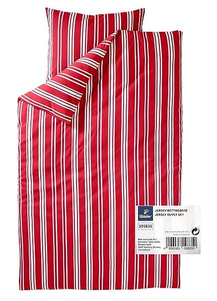 Tcm Tchibo Jersey Bed Linen Set 2tlg Blue Or Red Stripes üg 155 X