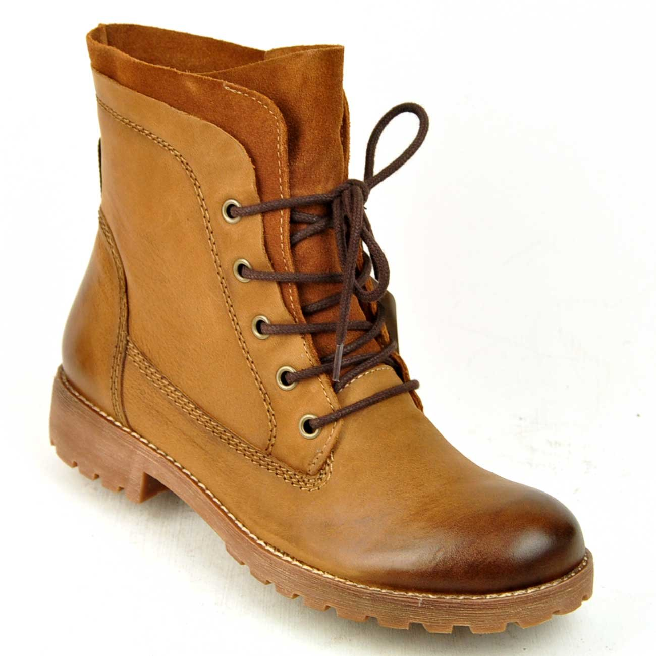 Tamaris, Stiefelette, Boots, Schnürer, echt Leder in Muscat