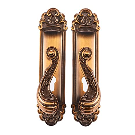 Door Lock Delaman Aluminum Alloy Vintage Door Handle Home Anti