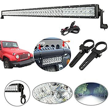 71f0Efe0 PL._SY355_ amazon com 5d light bar kit, powlab 300w 32\