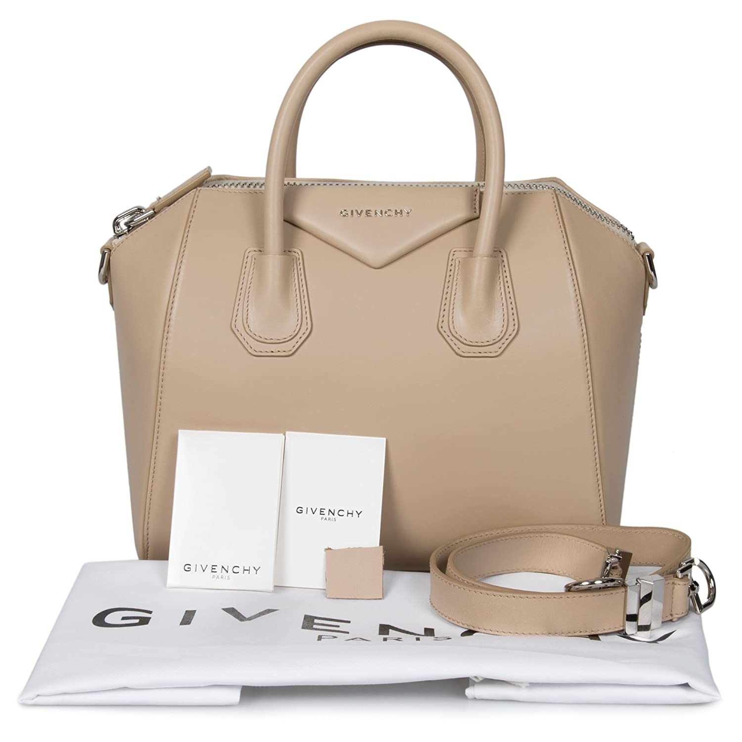 aeeefc2782 Givenchy Antigona Small Beige Leather Satchel: Givenchy: Amazon.ca: Shoes &  Handbags