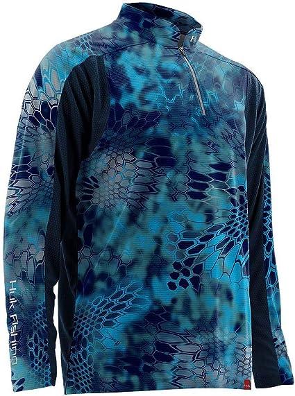 Pontus Huk Fishing Trophy Kryptek 1//4 Zip Performance Shirt H1200081-PON